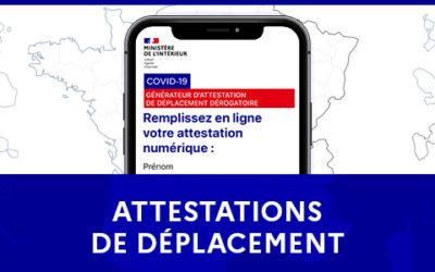 Attestation de déplacement – Covid19