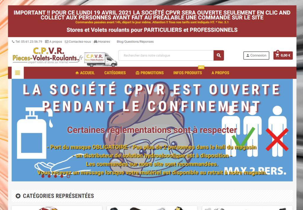 Capture d'écran site CPVR